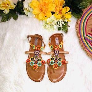INC Multi Colored Sandals 6.5